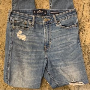 hollister co. medium-wash ripped skinny jeans